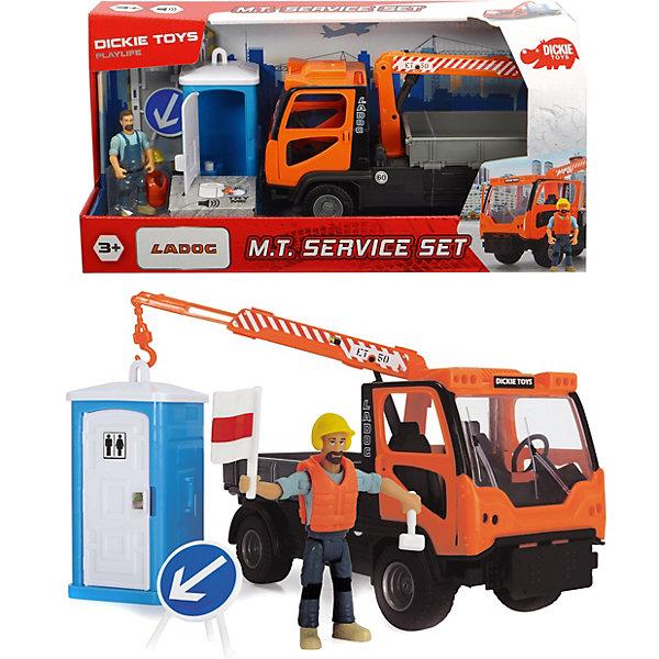 Dickie Toys Игровой набор Dickie Toys Playlife Санитарный сервис, 7 аксессуаров, 21,5 см игровой набор dickie toys playlife набор туриста