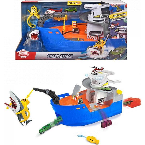 Dickie Toys Игровой набор Dickie Toys Атака акулы, 50 см, свет и звук dickie toys игровой набор dickie toys побег из тюрьмы свет звук
