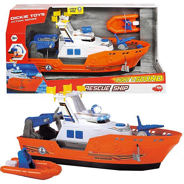 Спасательное судно Dickie Toys, 40 см, свет звук
