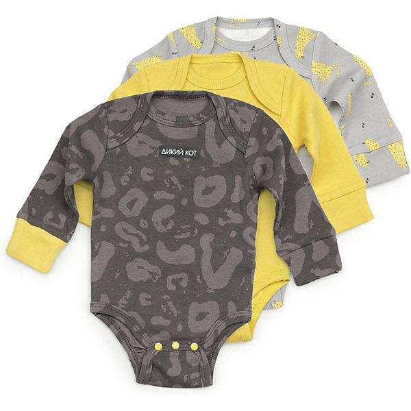 Купить Боди 3 шт Happy Baby для мальчика, Китай, темно-серый, 56, 74, 68, 62, 80, Мужской