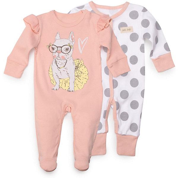 Купить Комбинезон 2 шт Happy Baby для девочки, Китай, розовый, 62, 68, 74, 56, Женский