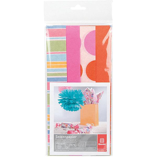 Werola Набор бумаги тишью Flower Power, 4 листа, 50х76 см