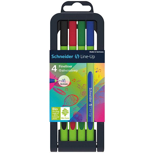 - Набор капиллярных ручек Schneider Novus Line-Up, 4 цвета