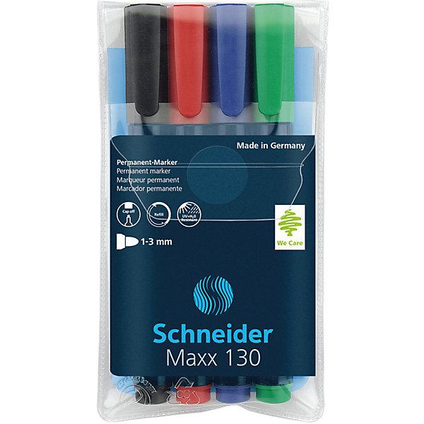 Купить Набор перманентных маркеров Schneider Novus Maxx 130, 4 цвета, -, Германия, Унисекс