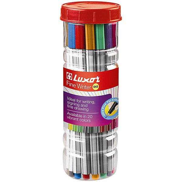 Фото - Luxor Набор капиллярных ручек Luxor Fine Writer 045, 20 цетов luxor набор капиллярных ручек luxor mini fine writer 045 20 цветов