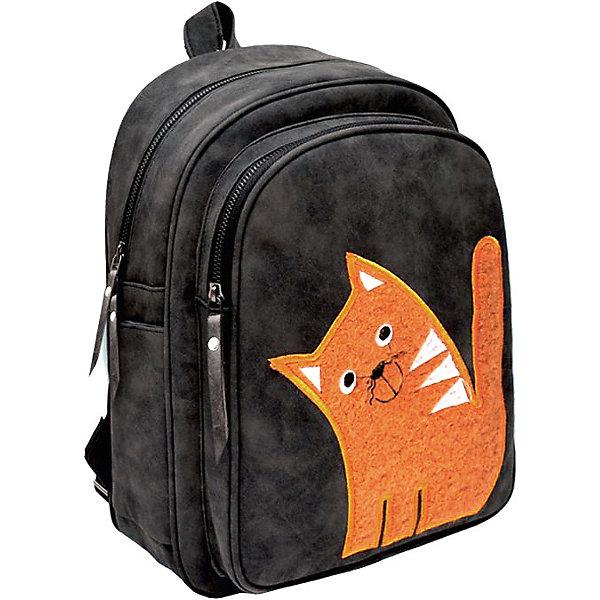 Рюкзак Феникс+ «Пушистый кот» оранжевый