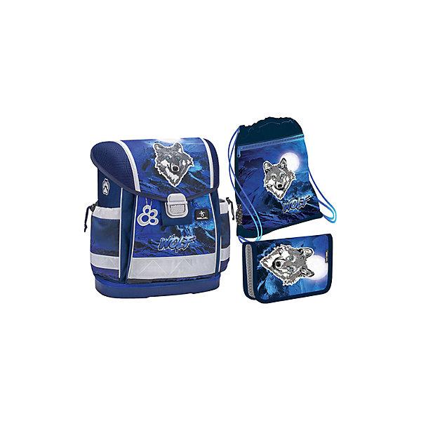 Купить Ранец Belmil Classy Wolves blue, с наполнением, синий, Сербия, Мужской