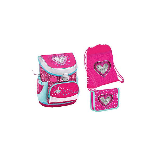 Купить Ранец Belmil Mini-fit Heart, с наполнением, розовый, Сербия, Женский
