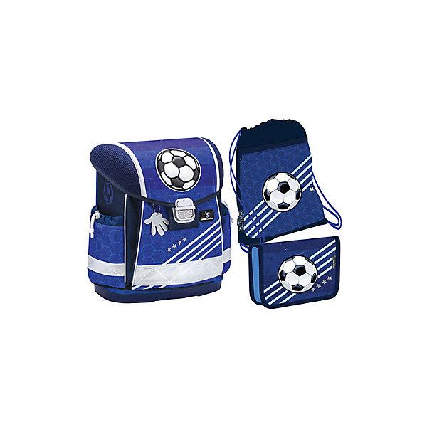Купить Ранец Belmil Classy Soccer, с наполнением, синий, Сербия, Мужской