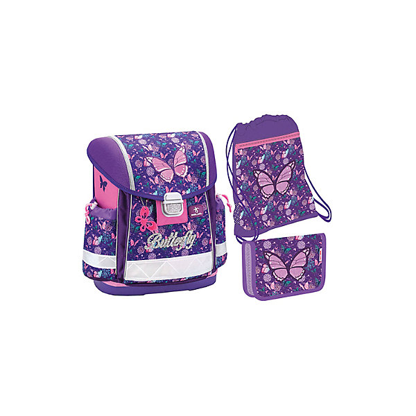 Купить Ранец Belmil Classy Butterfly, с наполнением, фиолетовый, Сербия, Женский
