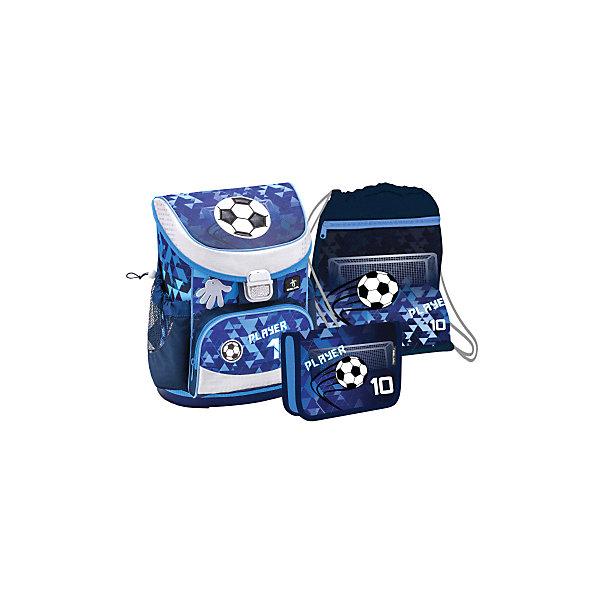 Купить Ранец Belmil Mini-fit Player, с наполнением, синий, Сербия, Мужской