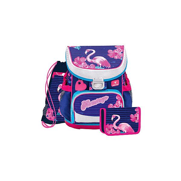 Купить Ранец Belmil Mini-fit Flamingo, с наполнением, сине-розовый, Сербия, pink/blau, Женский