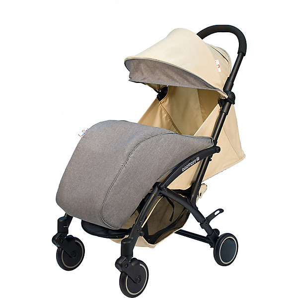 Коляска прогулочная Babyhit Allure бежевая с серым, тёмная рама Baby Hit цвет beige/grau