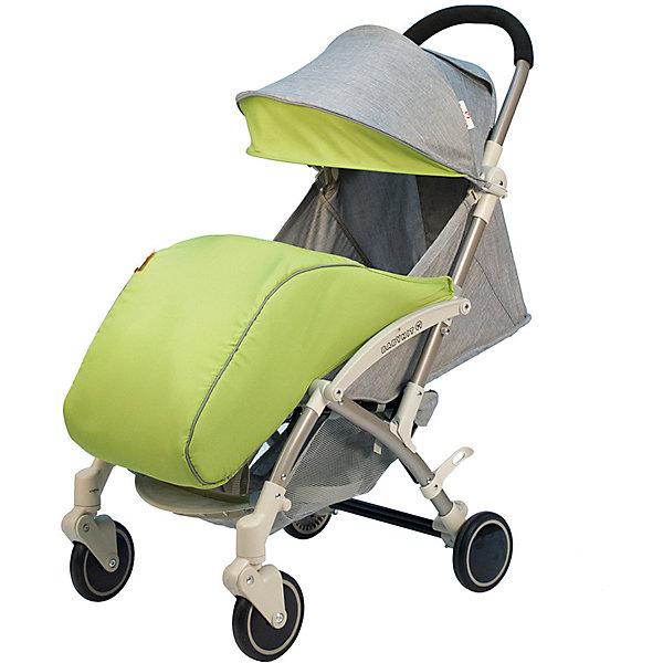 Коляска прогулочная Babyhit Allure светло-серая с зелёным, светлая рама Baby Hit