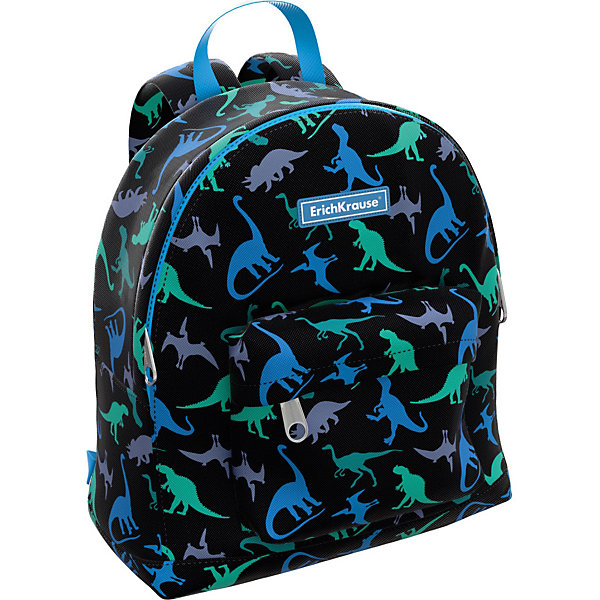 Купить Детский рюкзак Erich Krause ErgoLine Mini Dino, Россия, черный, Унисекс
