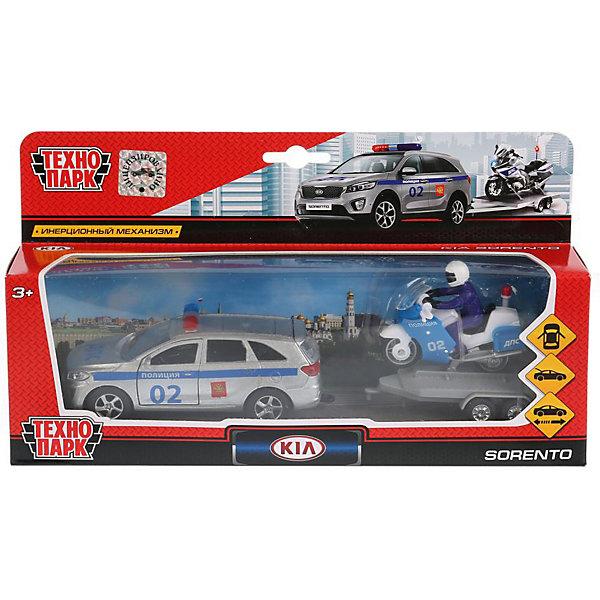 Инерционная машина Технопарк KIA Sorento Prime Полиция + мотоцикл