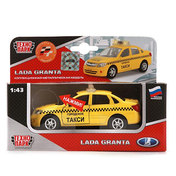 Инерционная машина Технопарк Lada Гранта ТаксиМашинки<br>Характеристики:<br><br>? материал: пластмасса, металл<br>? длина: 12,5 см<br>? масштаб: 1:43<br>? упаковка: коробка с окошком<br><br>Коллекционная модель Lada Гранта Такси выполнена в реалистичном дизайне с детально проработанными фарами, знаком и зеркалами. Она оснащена надежной колесной базой и инерционным механизмом: если потянуть машинку на себя и отпустить, то она сразу же поедет вперед. Передние двери, капот и багажник открываются и закрываются. Игрушка пригодится в сюжетно-ролевых играх, поможет в проигрывании различных жизненных сценариев, в развитии воображения, координации, ловкости и речи.