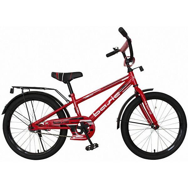Двухколесный велосипед Navigator Basic, 20Велосипеды<br>Характеристики товара:<br><br>• в комплекте: велосипед, багажник<br>• материал: сталь, пластик<br>• диаметр колёс: 20 дюймов<br>• тормоз: ножной<br><br>Яркий и стильный велосипед понравится активному ребёнку. Крепкая стальная рама и обода, защитная накладка на цепь и катафоты гарантируют долгий срок службы изделия и безопасность езды. Сиденье из вспененного материала регулируется по высоте. Тормоз ножной, а на руле имеется звонок. Ручки обтянуты удобными TPR-грипсами. В комплекте имеется багажник со световозвращателем, который можно прикрепить к заднему колесу при желании. Удлинённые и прочные пластиковые крылья защитят велосипед и багаж от загрязнений на дороге.