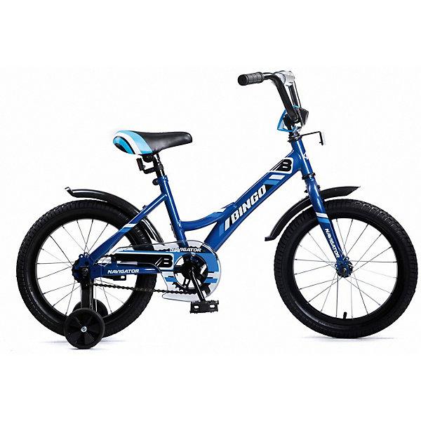 Купить Двухколесный велосипед Navigator Bingo, 16 дюймов, синий, Китай, разноцветный, Унисекс