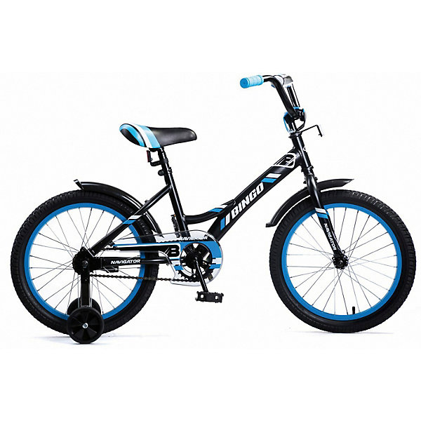 Navigator Двухколесный велосипед Navigator Bingo, 18 дюймов, синий цена и фото