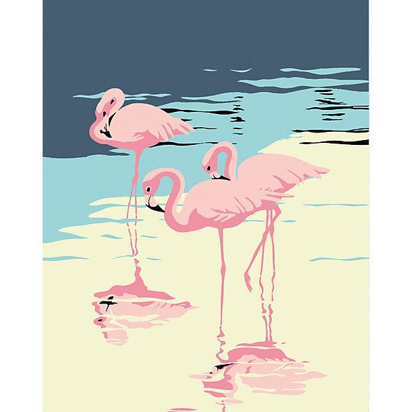 Набор для раскрашивания по номерам Артвентура «Три фламинго»Картины по номерам<br>Характеристики:<br><br>• тип товара: набор для раскрашивания <br>• комплектация: холст на подрамнике, краски, кисточка, инструкция, подставка<br>• размер: 16х13 см<br>• страна бренда: Россия<br><br>Набор для творчества позволит научиться рисовать. Он содержит все необходимое для создания картины. Холст размечен цифрами и контурами, по которым наносится краска из промаркированных баночек. Набор имеет уникальный сюжет.