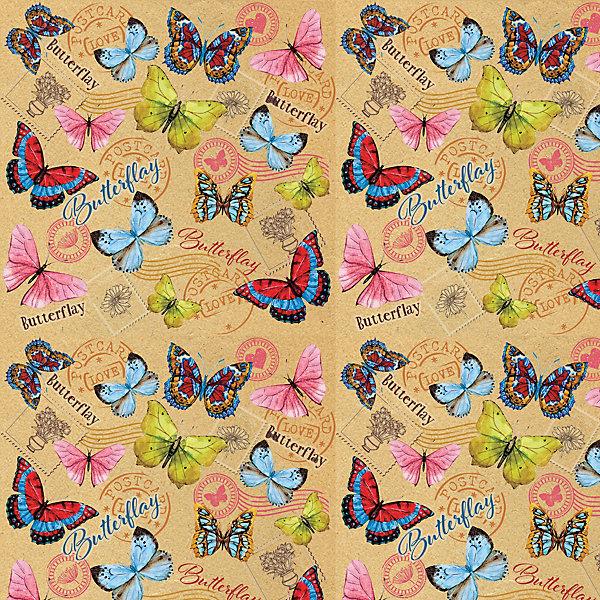 Феникс-Презент Упаковочная бумага крафт Тропические бабочки