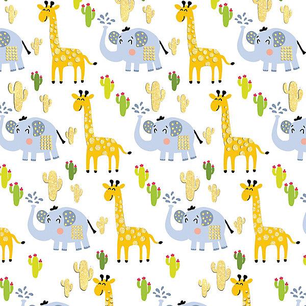 Феникс-Презент Упаковочная бумага Жираф и слон