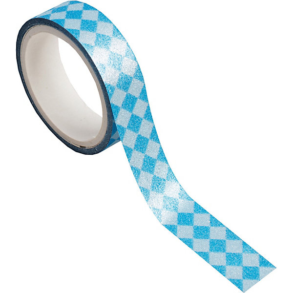 Феникс-Презент Декоративная самоклеющаяся лента Синие ромбы