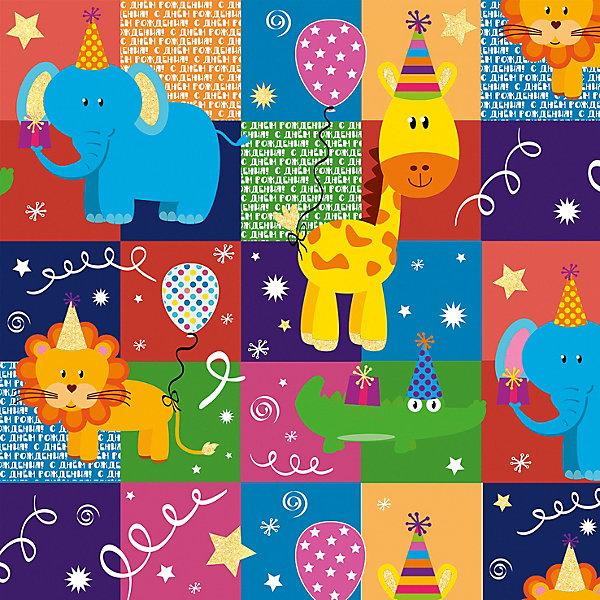 Феникс-Презент Упаковочная бумага Весёлый зоопарк в квадрате