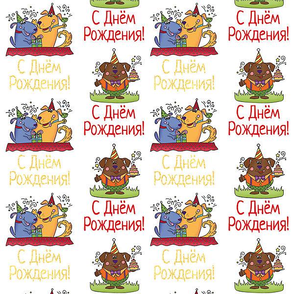 Феникс-Презент Упаковочная бумага Медведь и собаки-поздравляки
