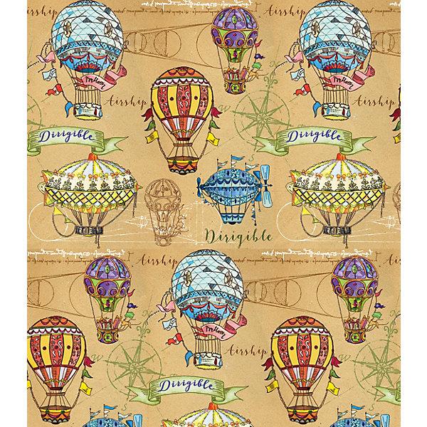 Феникс-Презент Упаковочная бумага крафт Воздушные шары
