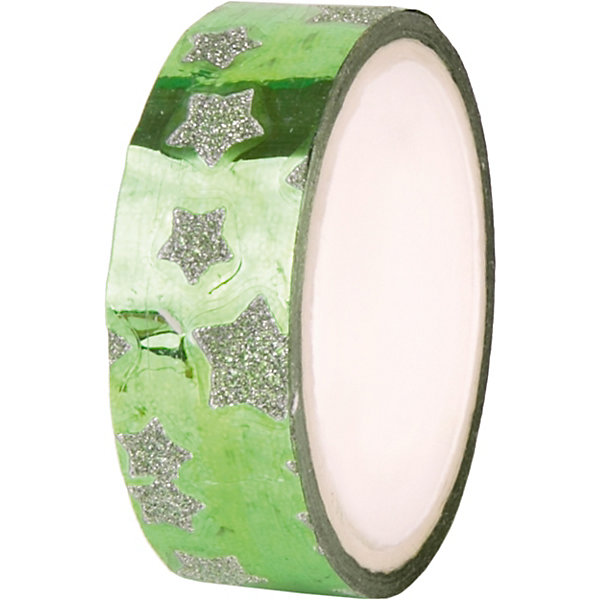Феникс-Презент Декоративная самоклеящаяся лента Зеленый глянец