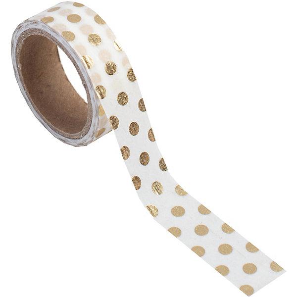 Феникс-Презент Декоративная самоклеющаяся лента Золотой горошек