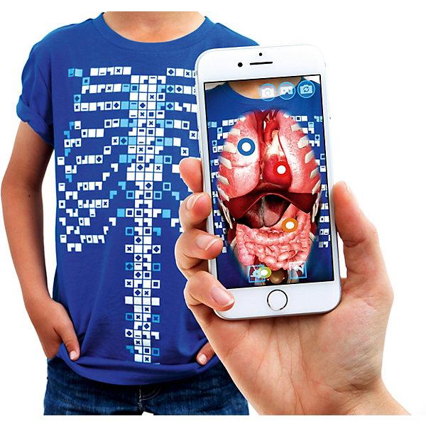 Футболка дополненной реальности VIRTUALI-TEE, для детейАнатомия<br>Футболка дополненной реальности VIRTUALI-TEE:<br><br>· Увлекательная экскурсия внутрь вашего тела<br>· Новый формат наглядного образования<br>· Информация на русском языке<br><br>Высококачественная футболка и бесплатное приложение (полностью русифицировано: текст и аудио) наглядно продемонстрирует строение вашего тела.<br> Волшебный и поучительный эксперимент для вашей семьи и друзей. Вы буквально телепортируетесь внутрь своего тела с помощью уникальной технологии!<br><br>Вы сможете:<br>• Изучить строение своего тела с помощью технологии дополненной реальности;<br>• Заглянуть в систему кровообращения, тонкий кишечник и легкие в режиме виртуальной реальности 360° VR;<br>• Идеально подходит для группового обучения (школа, детский сад). Изображение можно выводить на большой экран или проектор.<br><br>Футболку можно стирать в стиральной машине.<br>Материал: хлопок 100%