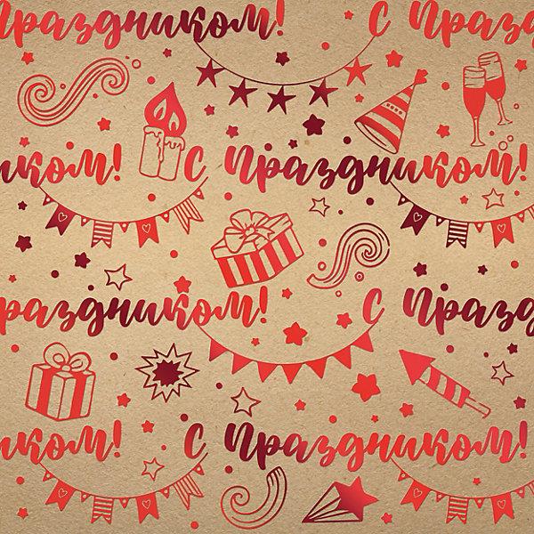 Феникс-Презент Упаковочная бумага крафт Поздравляю!
