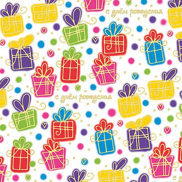 Упаковочная бумага Феникс-Презент Цветные подаркиДетская упаковочная бумага<br>Характеристики:<br><br>• материал: бумага<br>• страна бренда: Россия<br><br>Бумага предназначена для упаковки подарков и подарочных коробок. Кроме того, подходит для создания поделок, например, бумажных гирлянд. Товар оформлен красочным изображением с авторским дизайном.