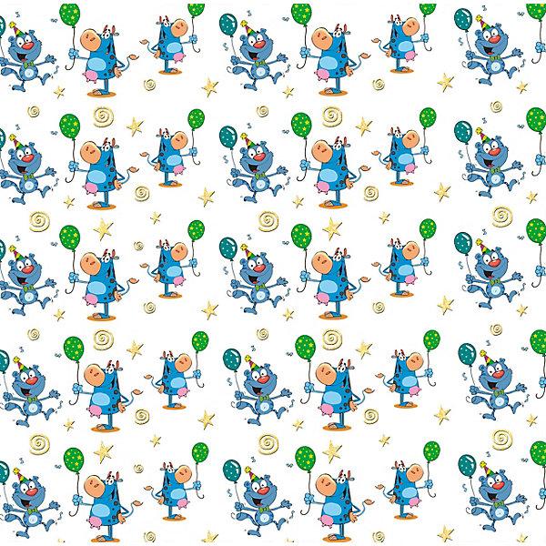Феникс-Презент Упаковочная бумага Кот и бегемот