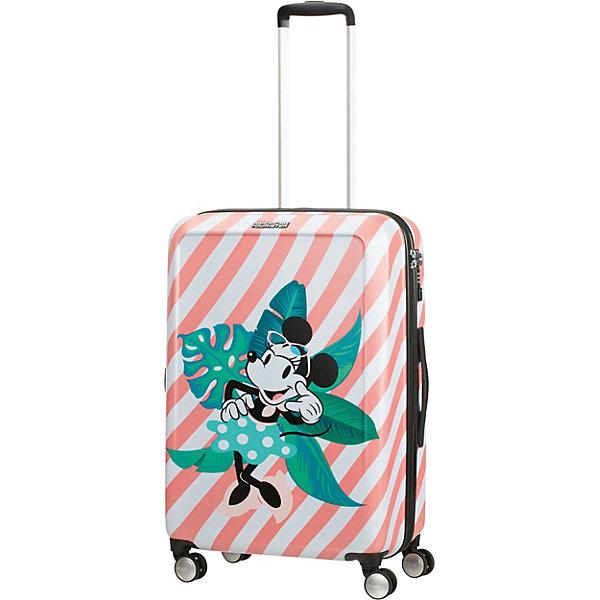 American Tourister Чемодан American Tourister Минни Майями каникулы, высота 67 см чемодан american tourister litewing insignia blue 70 см 4 колеса