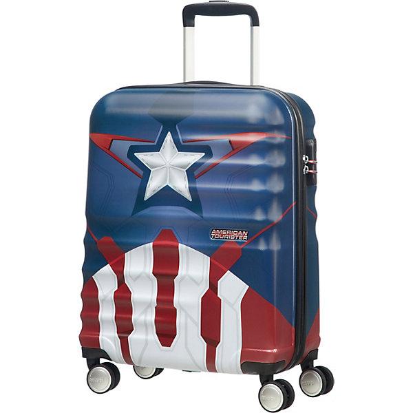 цена American Tourister Чемодан American Tourister Капитан Америка, высота 55 см онлайн в 2017 году