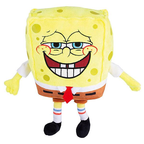Плюшевая игрушка SpongeBob Спанч Боб, со звуком, 20 смМягкие игрушки из мультфильмов<br>Характеристики:<br><br>• материал: плюш<br>• высота игрушки: 20 см<br>• особенности: 5 вариаций звуковых эффектов (пукает)<br>• тип батареек: 3хLR44<br>• наличие батареек: в комплекте<br><br>Игрушка в точности повторяет образ героя популярного мультсериала. Ручки и ножки можно отводить в стороны, мягкое тело приятно сжимать и держать в руках. Персонаж издает интересные звуки, если на него нажать. Эта особенность позволяет использовать игрушку для розыгрышей и веселых игр. Изделие выполнено из качественных материалов и аккуратно прошито.