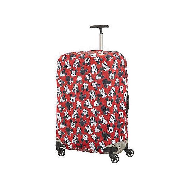 Samsonite Чехол для чемодана Samsonite Микки, Минни, красный 86 см