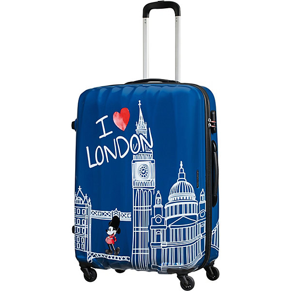 American Tourister Чемодан American Tourister Микки Лондон, высота 75 см чемодан american tourister litewing insignia blue 70 см 4 колеса