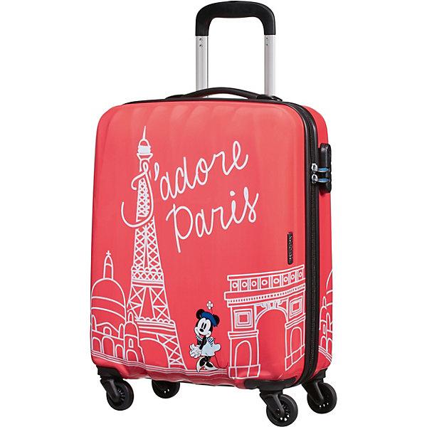 American Tourister Чемодан American Tourister Минни Париж, высота 55 см чемодан american tourister litewing insignia blue 70 см 4 колеса