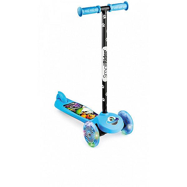 Small Rider Трехколесный самокат Scooter Flash 2в1 со светящимися колесами, синий
