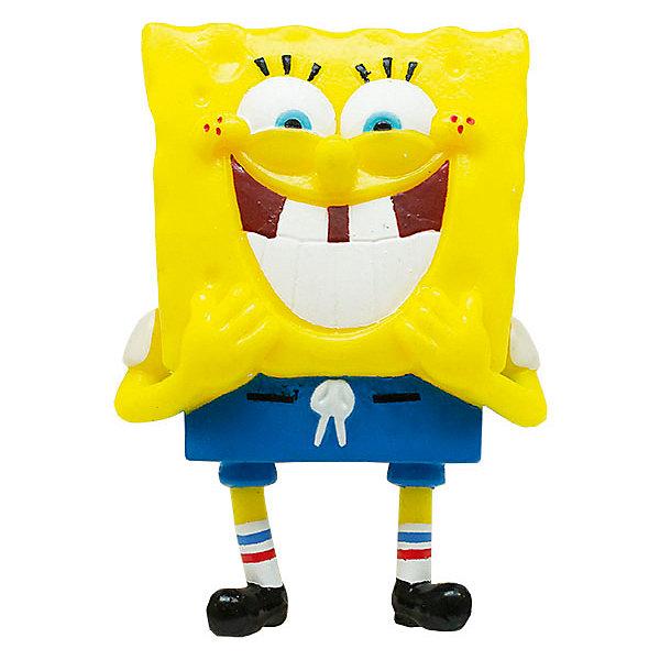 Alfa Group Игрушка-антистресс SpongeBob Смеющийся Губка Боб, 9 см