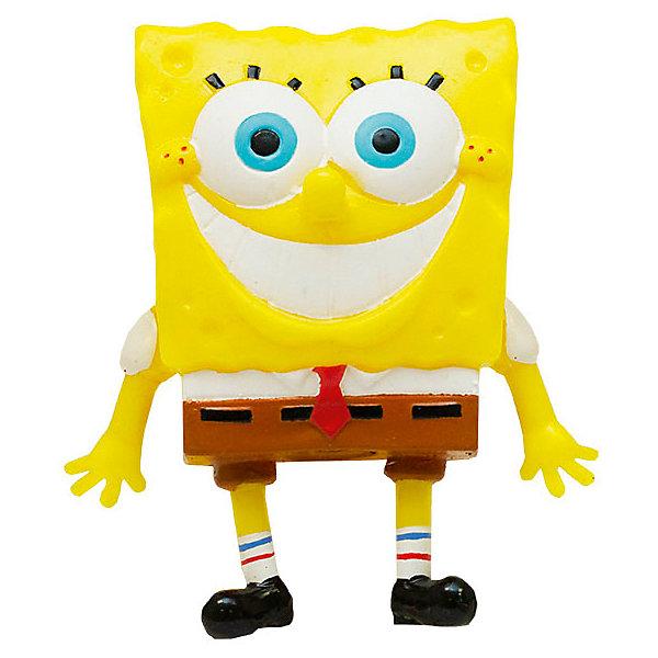 Купить Игрушка-антистресс SpongeBob Улыбающийся Губка Боб , 9 см, Alfa Group, Китай, желтый, Унисекс