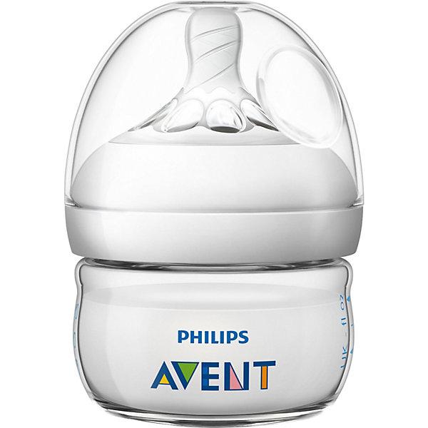 PHILIPS AVENT Бутылочка для кормления Philips Avent Natural с 0 мес, 60 мл philips avent бутылочка полипропиленовая natural scf033 17 260 мл с 1 мес прозрачная