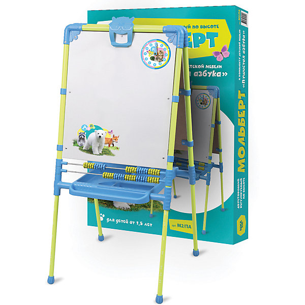 Nika-Kids Мольберт НИКА Пушистая азбука комплект ника умничка 2 стол стул пушистая азбука