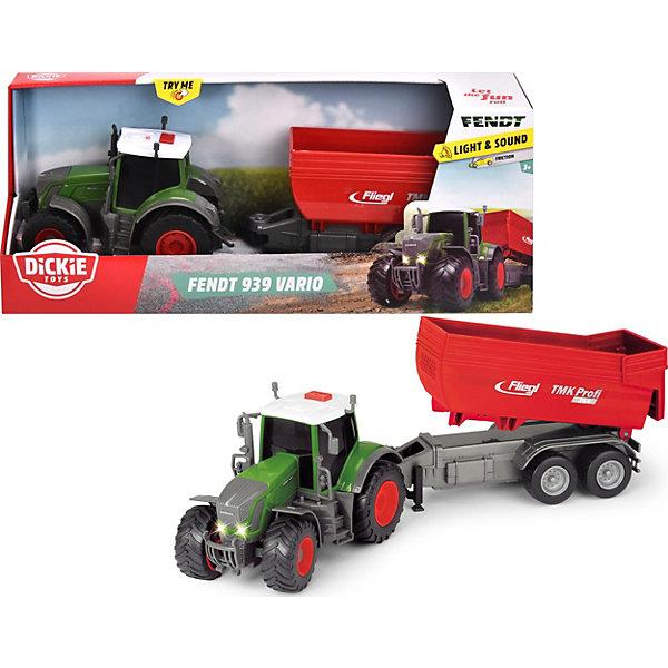 Dickie Toys Трактор с прицепом Dickie Toys Fendt 939 Vario, фрикционный, 41 см машина пластиковая dickie 3737000 трактор fendt с прицепом 41см свет звук