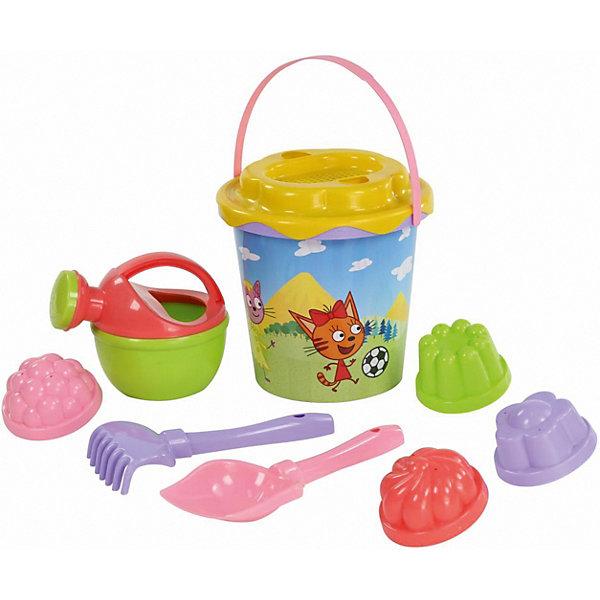 Полесье Песочный набор Полесье №6 «Три кота» полесье набор игрушек для песочницы полесье marvel человек паук 11 4 предмета